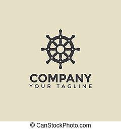 design, schiff, schablone, rad, nautisch, einfache , logo