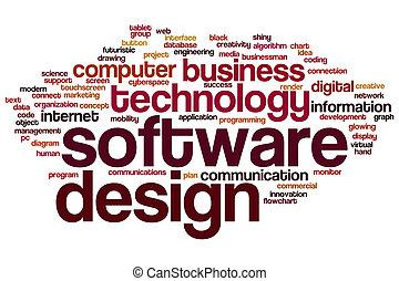 design, wort, wolke, software