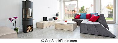 Designed living room.
