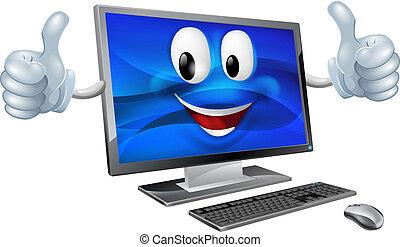 Desktop-Computer-Maskottchen.