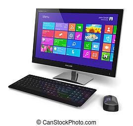 Desktop-Computer mit Touchscreen-Interface