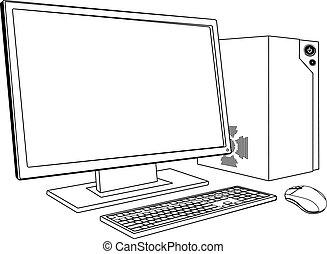 Desktop PC Computerarbeit