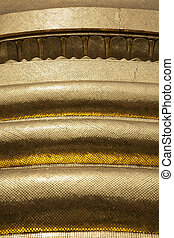 detail, pagode, goldenes