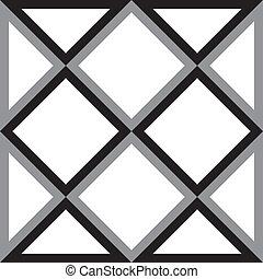 diamant, dreieck, abstrakt, quadrat, hintergrund, trydimensional, illusion