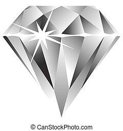 Diamant gegen Weiß