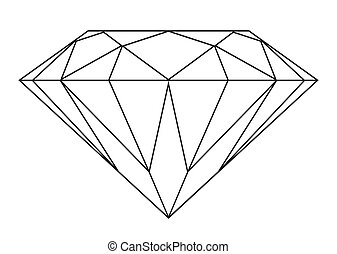 Diamant-Outline
