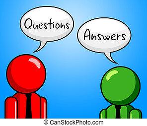 Die Antworten der Anfragen deuten auf Fragen und Hilfe hin.
