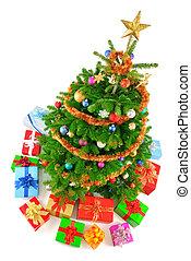 Die beste Aussicht auf einen bunten Weihnachtsbaum