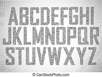 Die Buchstaben des Kreises