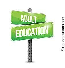 Die Erwachsenenbildungsstraße zeigt an.