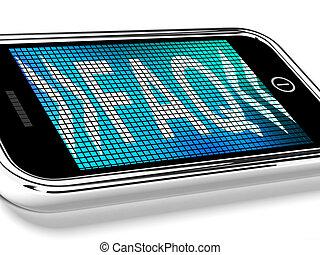 Die Faq-Nachricht auf einem Handybild zeigt Hilfe