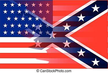 Die Flagge des Bürgerkriegs.