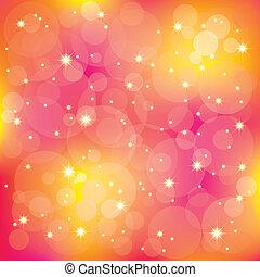 Die funkelnden Sterne leuchten auf bunter Herkunft