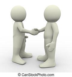 Die Leute geben sich die Hand