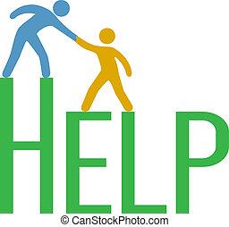 Die Leute stehen auf und suchen Hilfe.