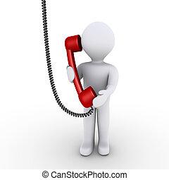 Die Person spricht am Telefon