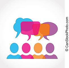 Die Rede des sozialen Medien-Netzwerks Blasen