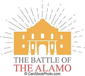 Die Schlacht des Alamo-Designs.