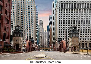 Die Straße des Chicago.