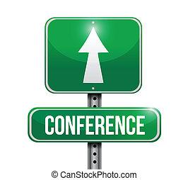 Die Straßenbezeichnungen der Konferenz zeigen Muster