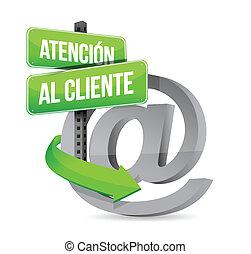 Die Unterstützung der spanischen Kunden bei den Zeichen