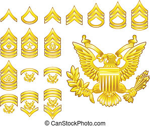 Die US-Armee hat sich insignia Icons eingeschrieben