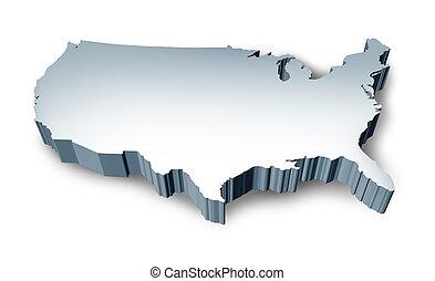 Die USA haben keine 3D-Karte