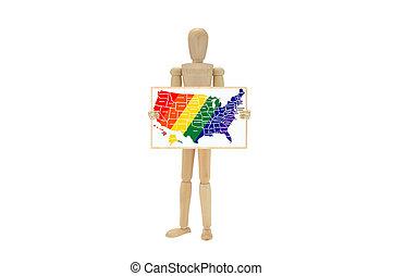 Die USA zeigen Schwulen-Soldatenfarben.