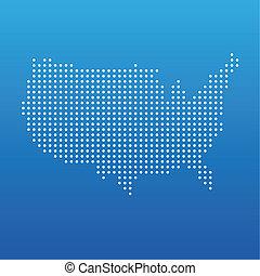 Die Vereinigten Staaten haben keine Karte