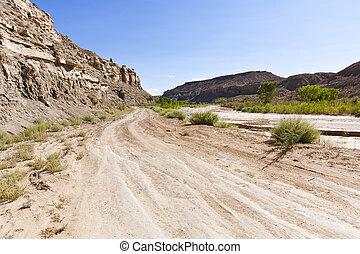 Die Wüste liegt außerhalb der Baumwolle