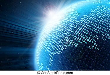 Digitaler Globus.