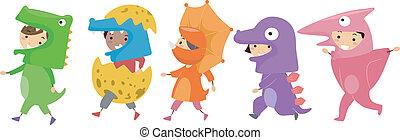 Dinosaurier-Kostüme