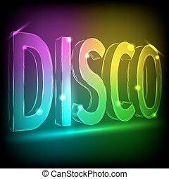 Disco abstrakte farbige Linien auf schwarzem Hintergrund.