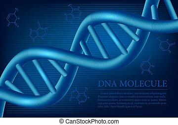 DNA-Molekül Hintergrund. Vector Illustration.