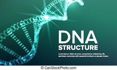 Dna Strukturvektor. Abstrakte Helix. Genetisches Molekül. Futuristischer Code. Illustration