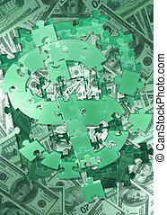 dollar, 04, puzzel