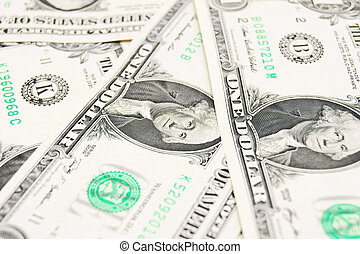 dollar., geld.