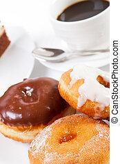 donut, bohnenkaffee