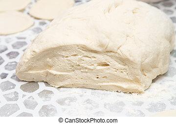 Dough zum Kochen in der Küche.