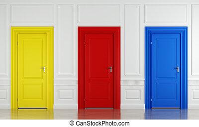 Drei Farbtore.