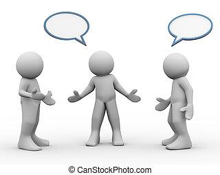Drei Leute reden