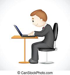 Drei Männer arbeiten an Laptop