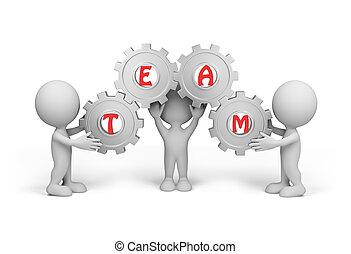 Drei Personen - Team