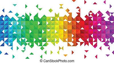 Dreieckige Mosaikgeschichte.