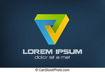 Dreiecks abstraktes Logo.