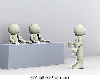 Dreifaches Vorstellungsgespräch