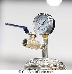 Druck-Diagramm Gauge zur Messung des Luftdrucks.