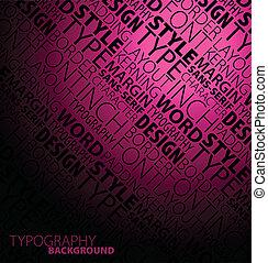 dunkel, abstrakt, typographie, hintergrund
