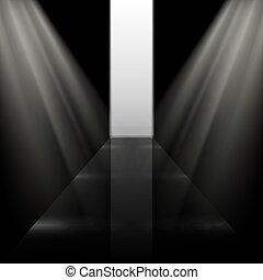 Dunkel klar reflektieren die Modebahn