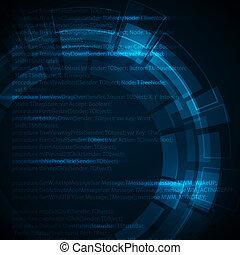 Dunkelblauer technischer Hintergrund mit Platz für Ihren Text